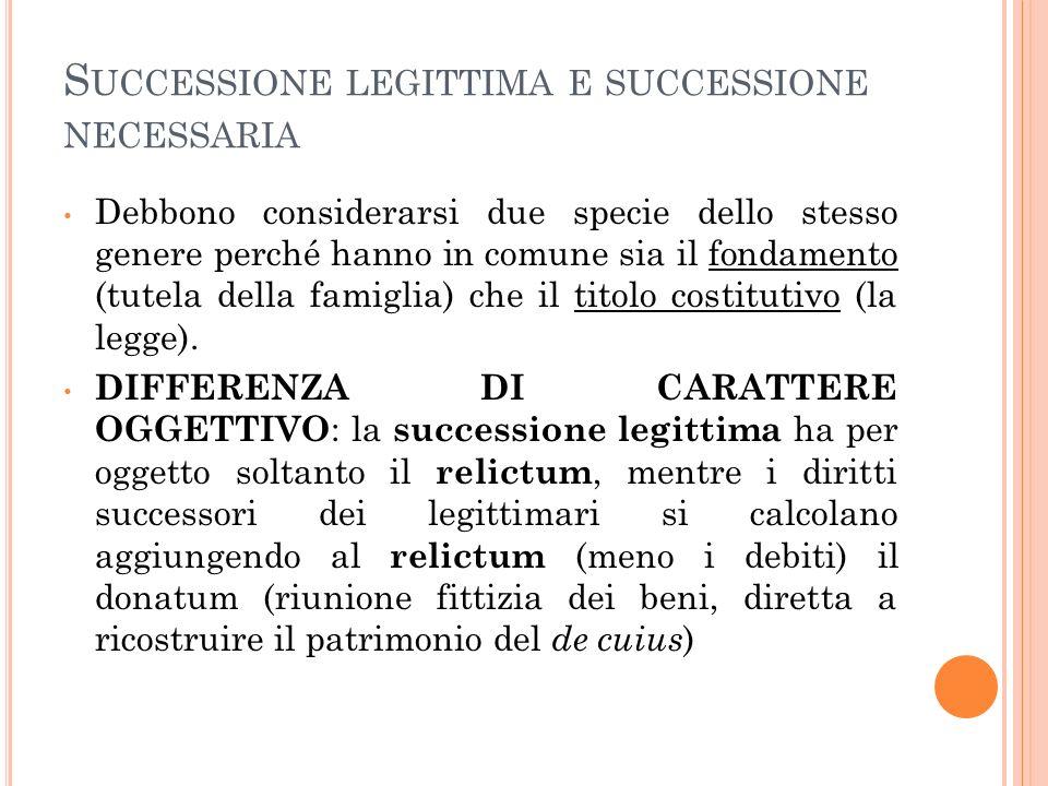 Successione legittima e successione necessaria