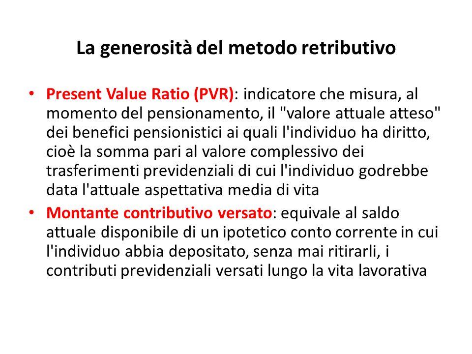 La generosità del metodo retributivo