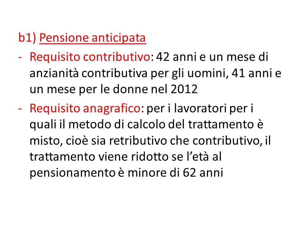 b1) Pensione anticipata