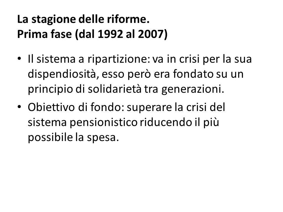 La stagione delle riforme. Prima fase (dal 1992 al 2007)