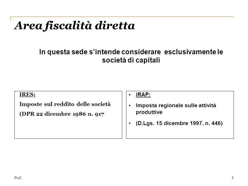 Area fiscalità diretta