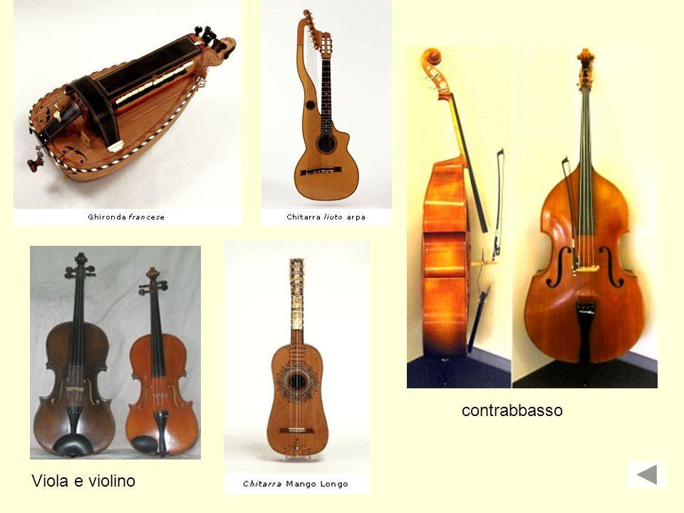 contrabbasso Viola e violino