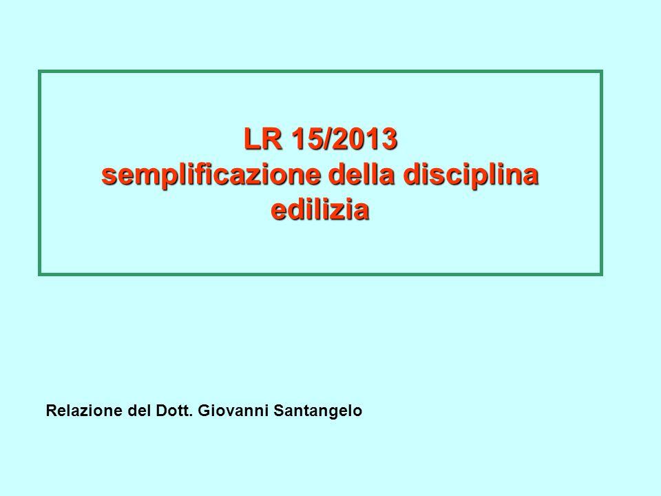 LR 15/2013 semplificazione della disciplina edilizia