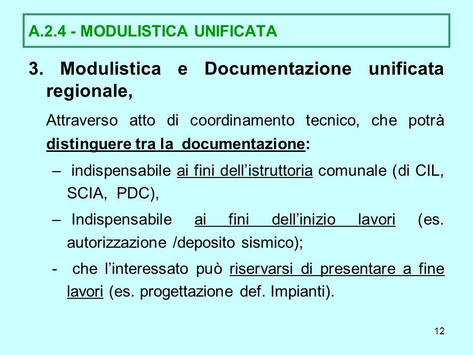 A.2.4 - MODULISTICA UNIFICATA