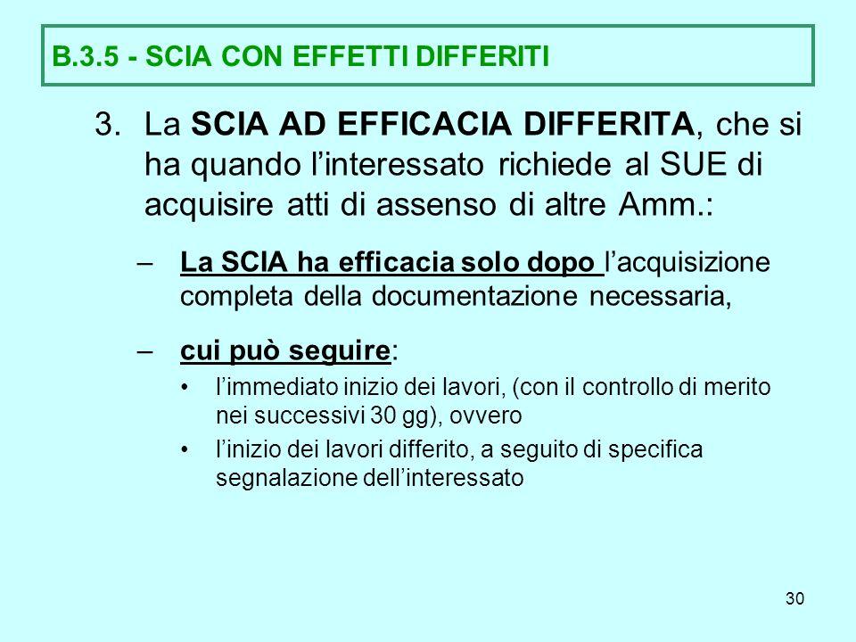 B.3.5 - SCIA CON EFFETTI DIFFERITI