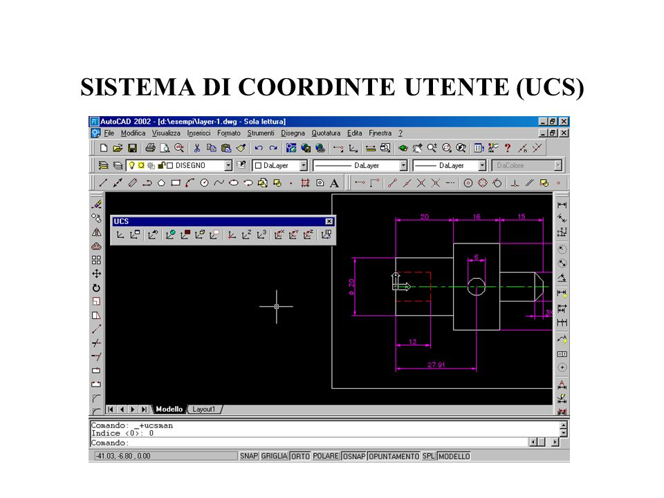 SISTEMA DI COORDINTE UTENTE (UCS)
