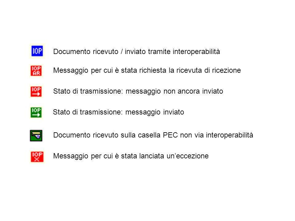 Documento ricevuto / inviato tramite interoperabilità