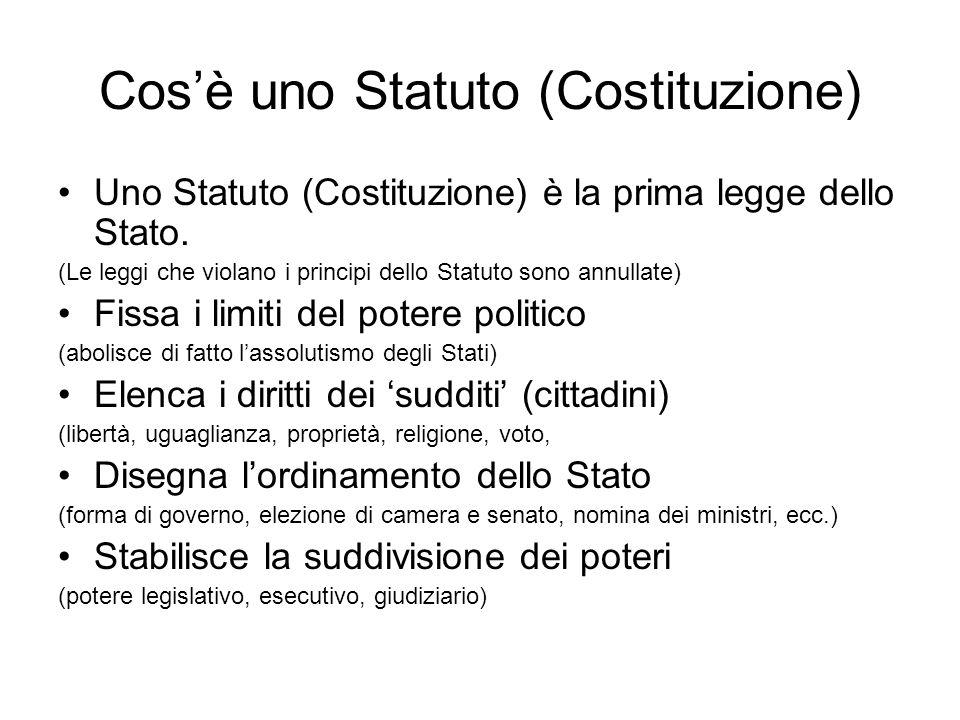 Cos'è uno Statuto (Costituzione)