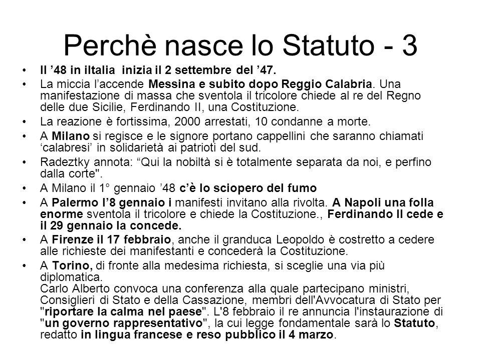 Perchè nasce lo Statuto - 3