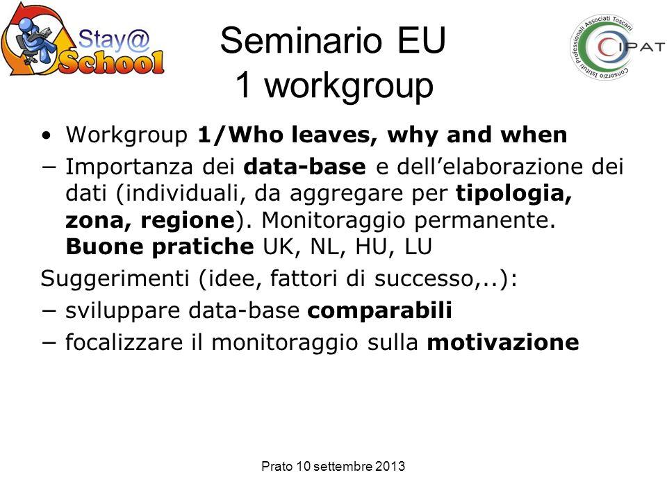 Seminario EU 1 workgroup