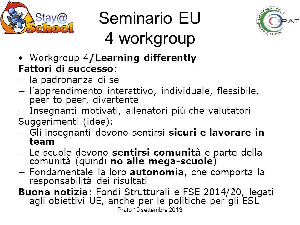 Seminario EU 4 workgroup