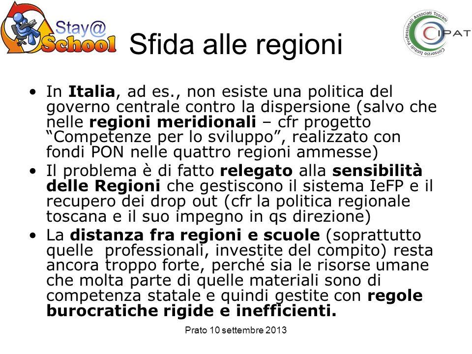 Sfida alle regioni