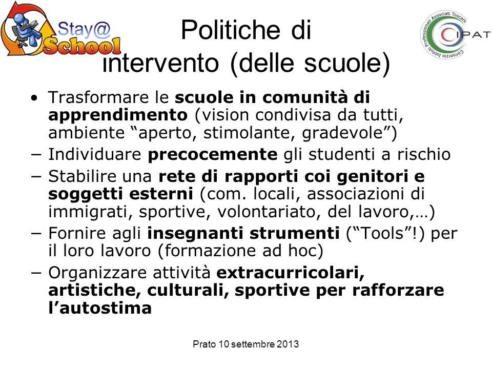 Politiche di intervento (delle scuole)