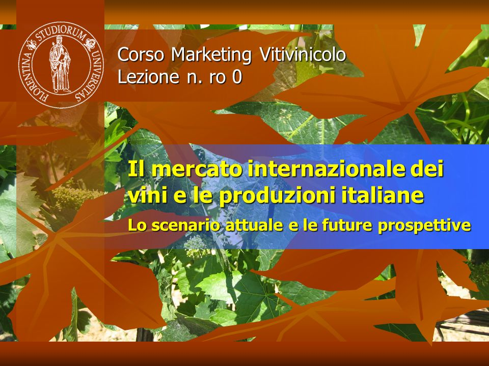 Corso Marketing Vitivinicolo