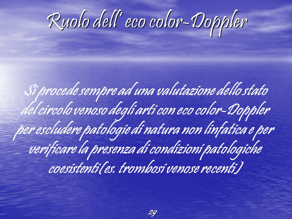Ruolo dell' eco color-Doppler