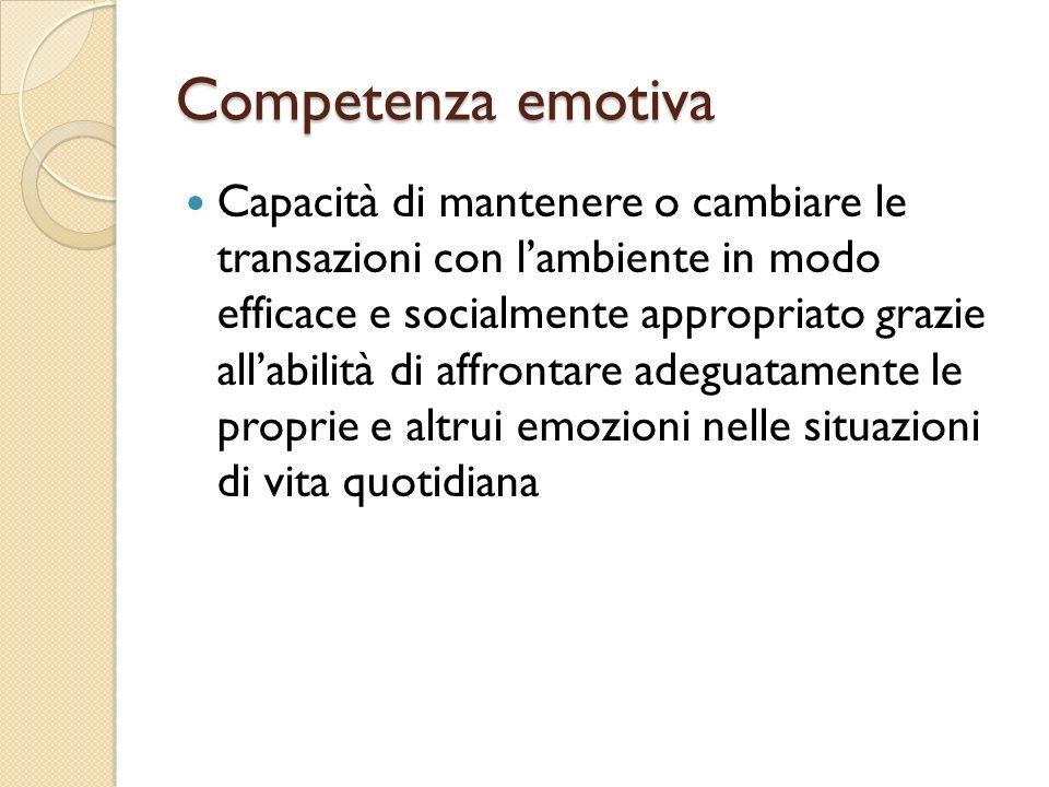 Competenza emotiva