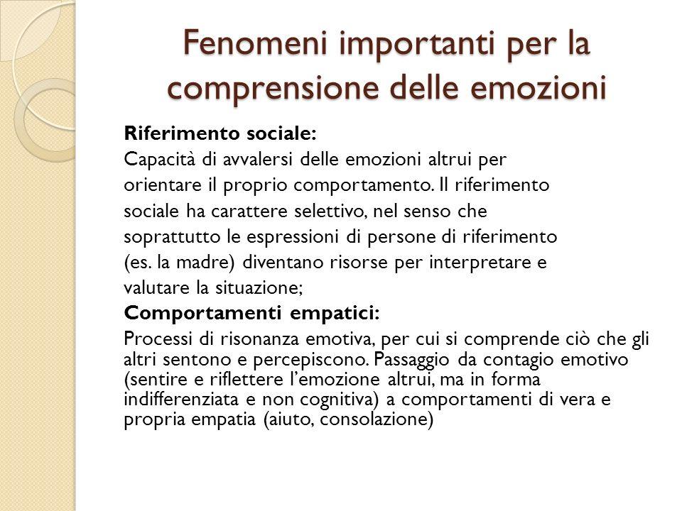 Fenomeni importanti per la comprensione delle emozioni