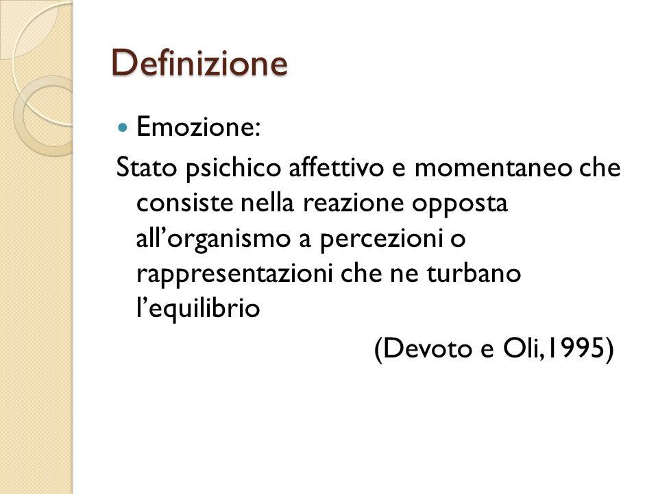 Definizione Emozione: