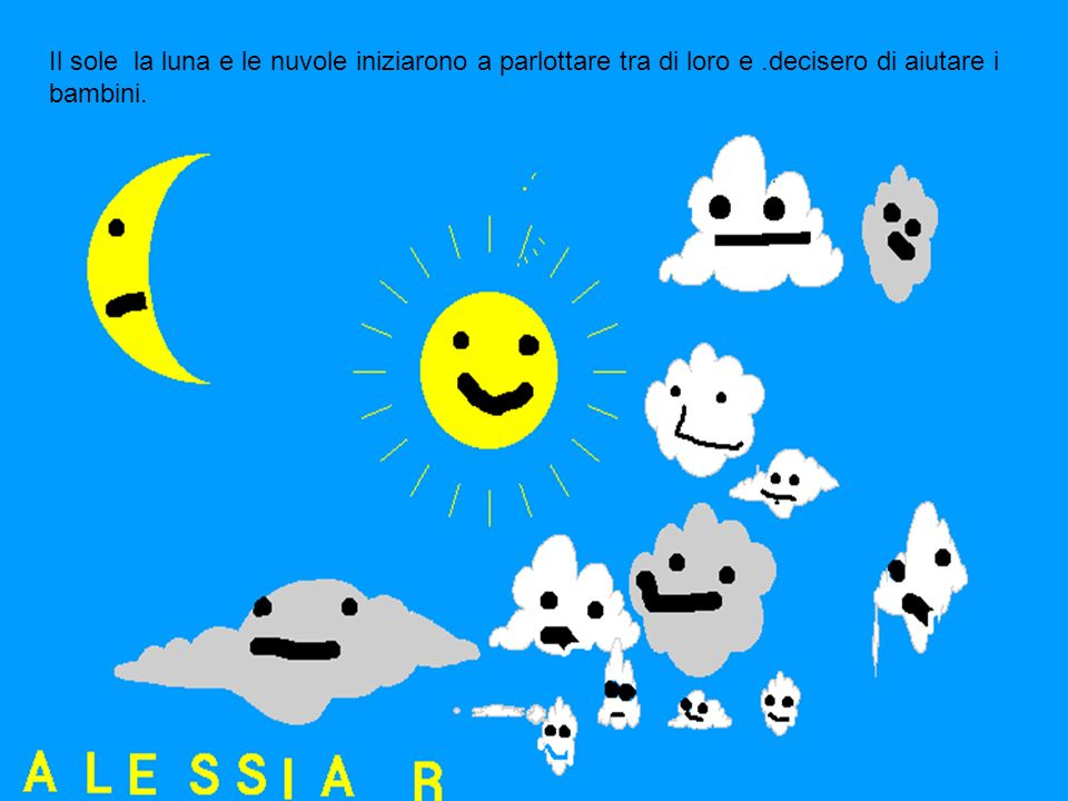 Il sole la luna e le nuvole iniziarono a parlottare tra di loro e