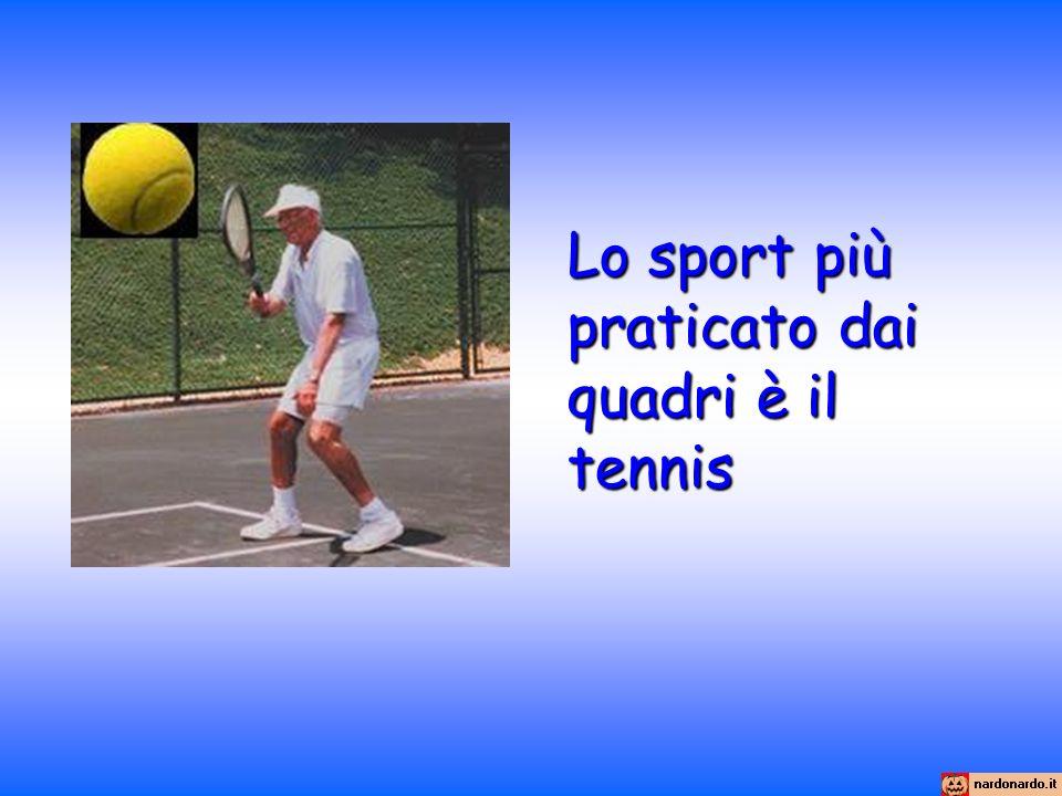 Lo sport più praticato dai quadri è il tennis