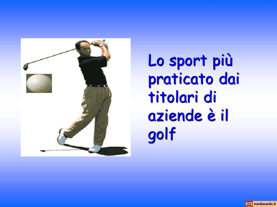 Lo sport più praticato dai titolari di aziende è il golf