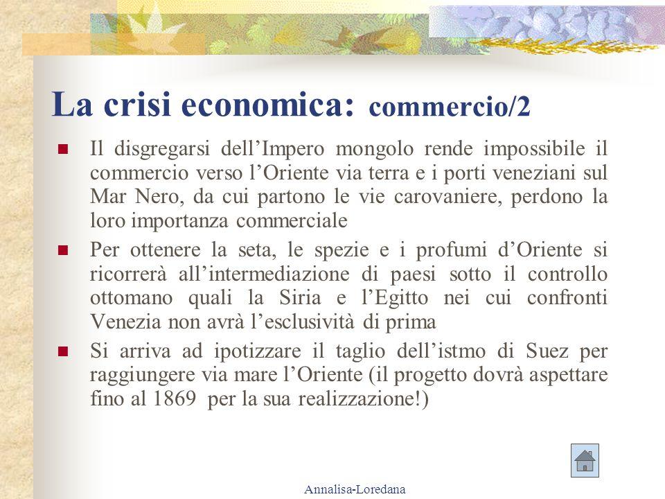 La crisi economica: commercio/2
