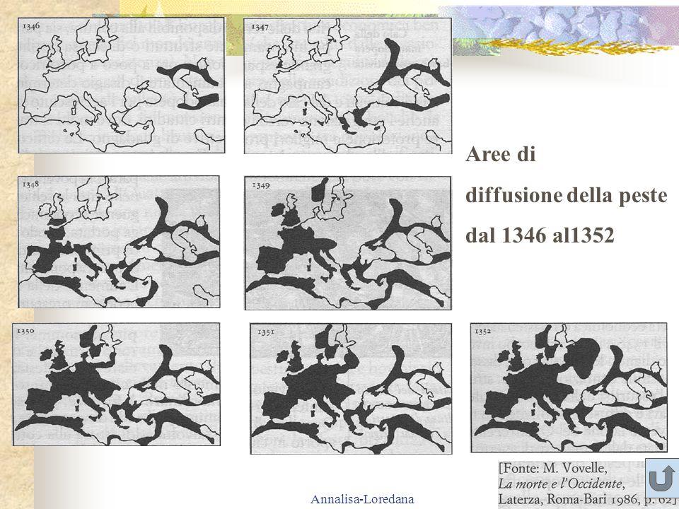 diffusione della peste dal 1346 al1352