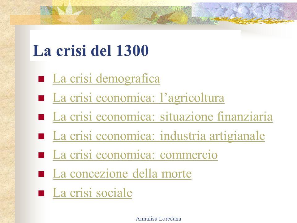 La crisi del 1300 La crisi demografica