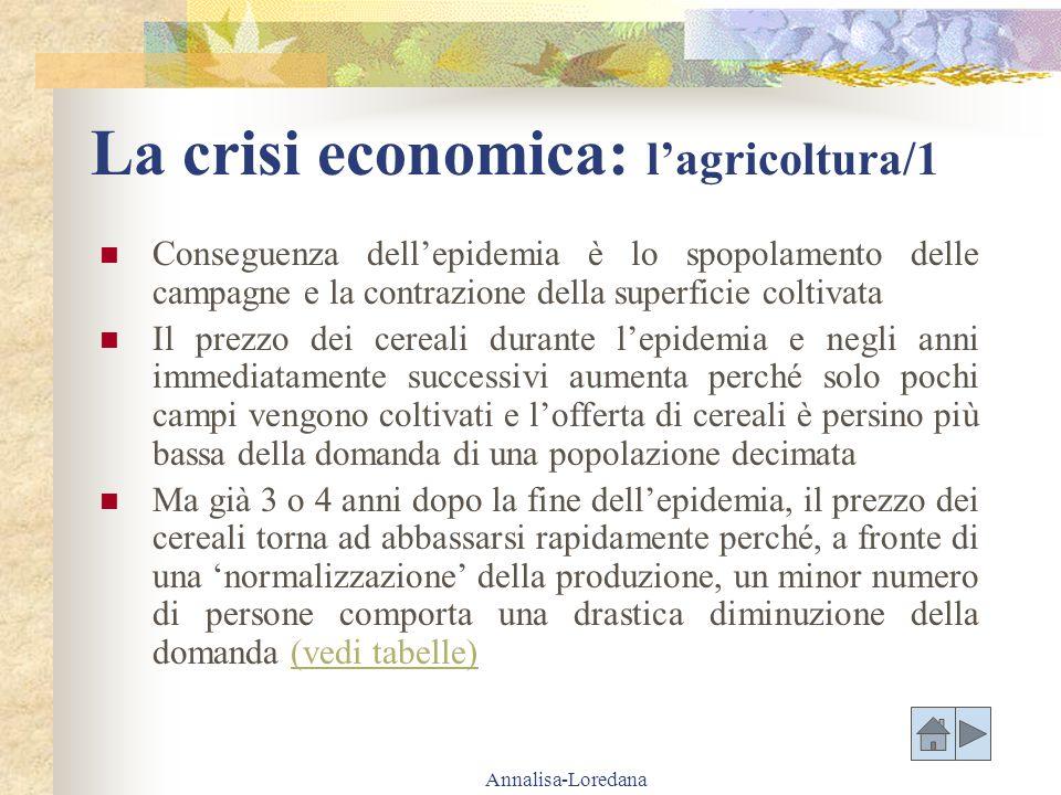 La crisi economica: l'agricoltura/1