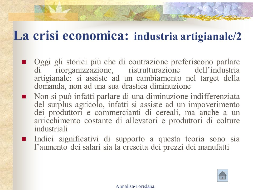 La crisi economica: industria artigianale/2