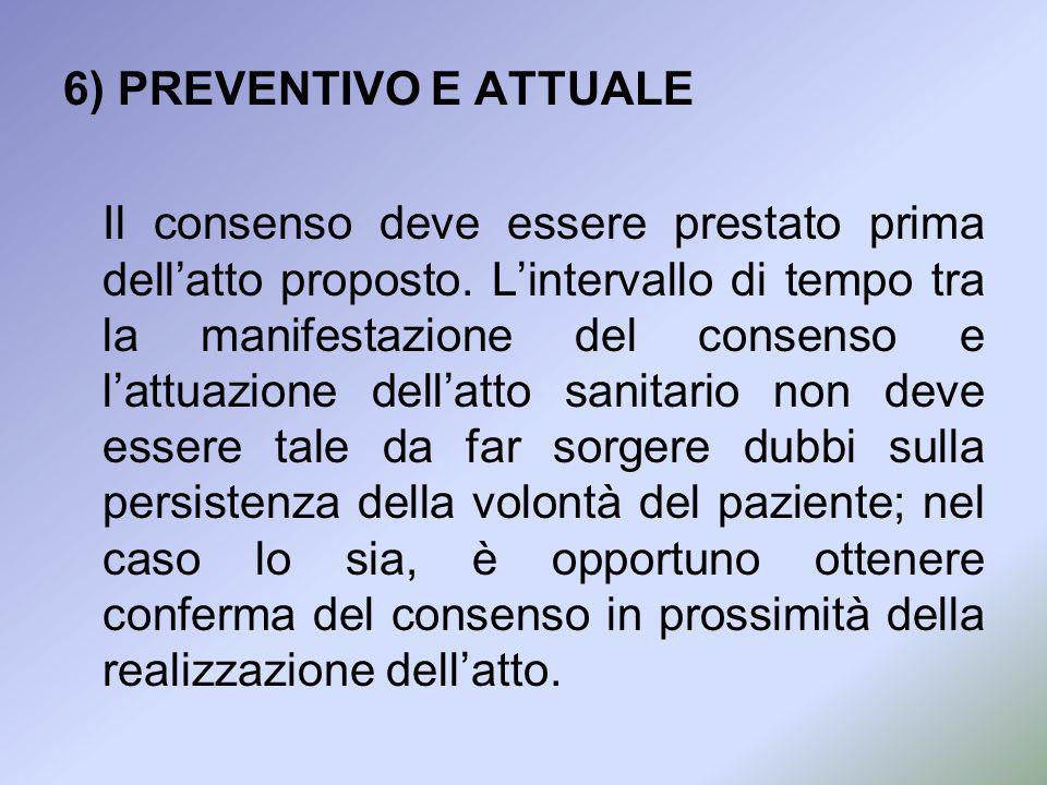 6) PREVENTIVO E ATTUALE