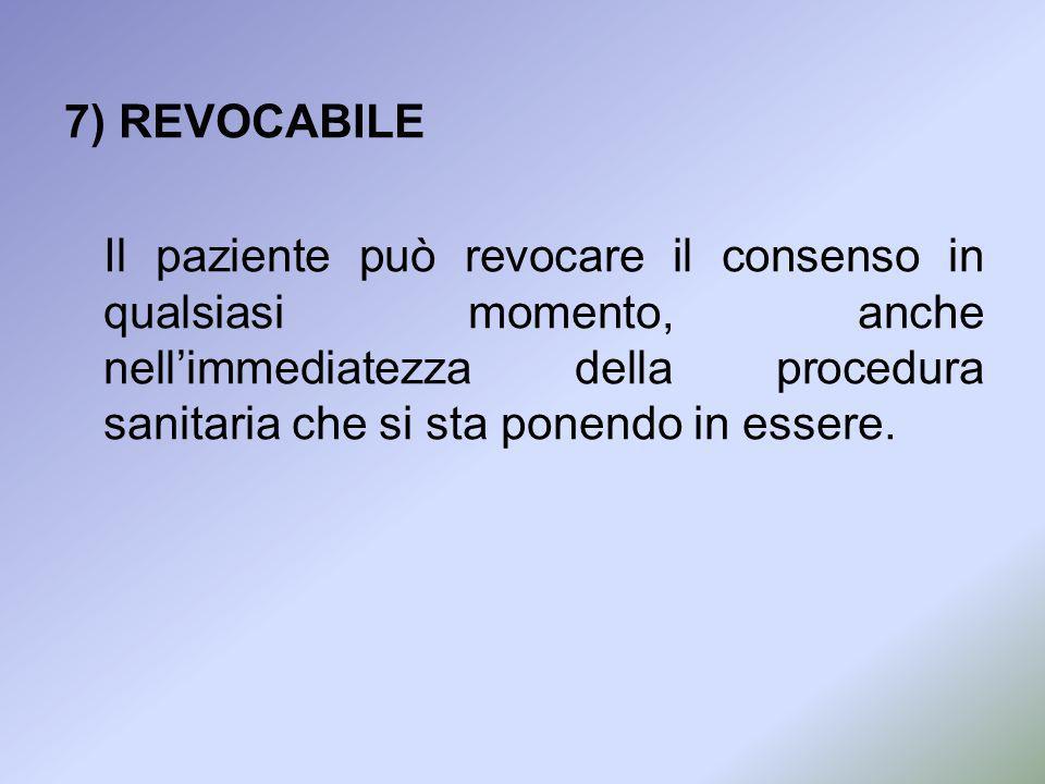7) REVOCABILE