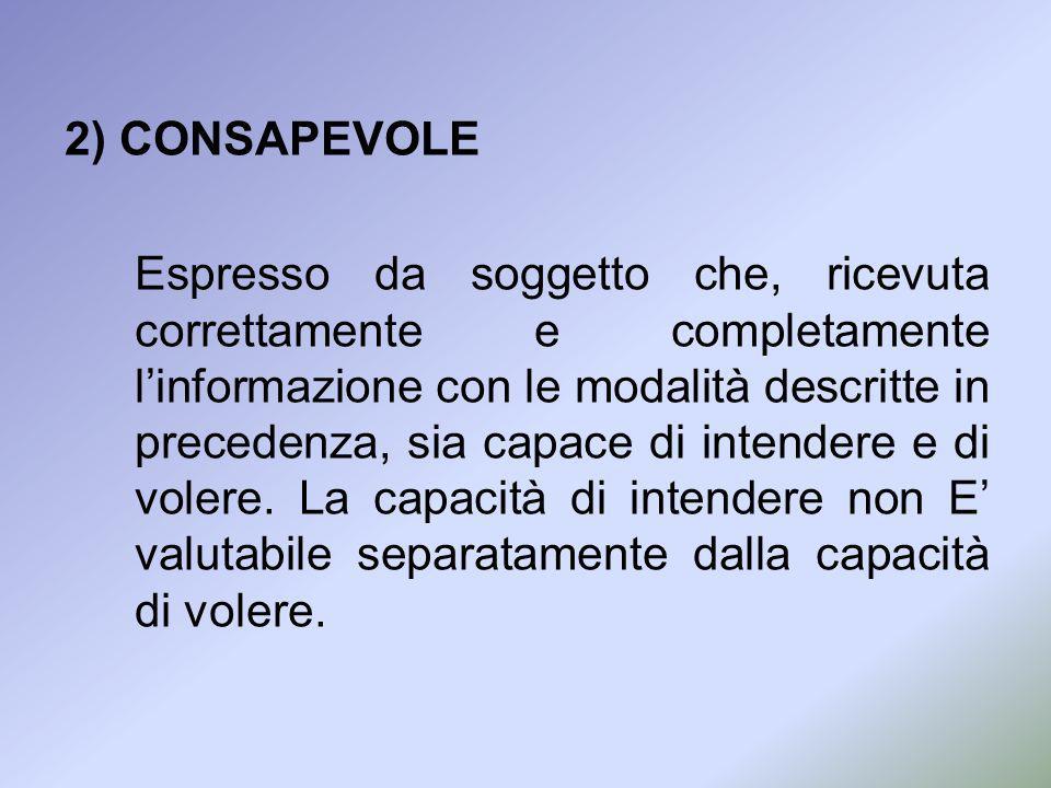 2) CONSAPEVOLE