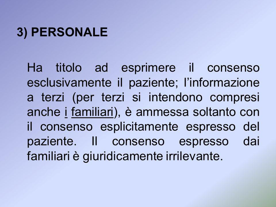 3) PERSONALE