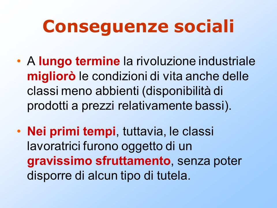 Conseguenze sociali