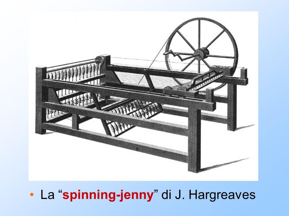 La spinning-jenny di J. Hargreaves