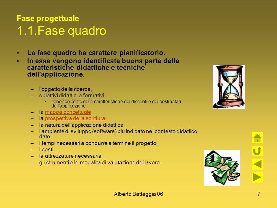 Fase progettuale 1.1.Fase quadro