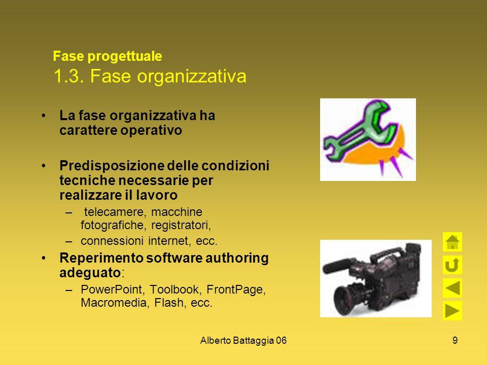 Fase progettuale 1.3. Fase organizzativa