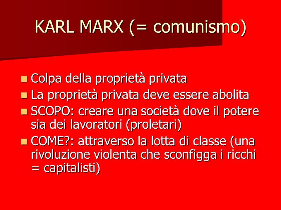 KARL MARX (= comunismo)