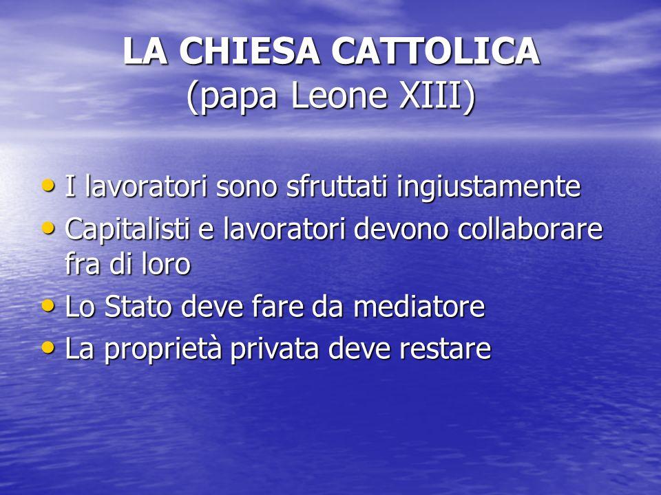 LA CHIESA CATTOLICA (papa Leone XIII)