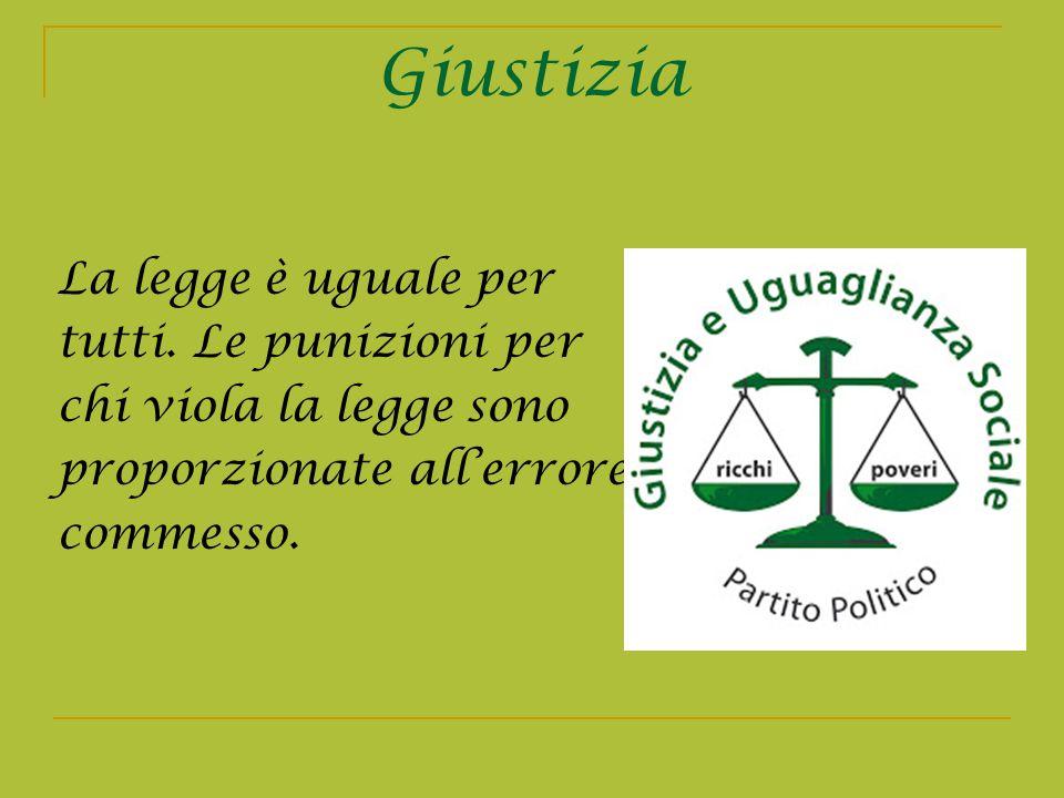 Giustizia La legge è uguale per tutti. Le punizioni per