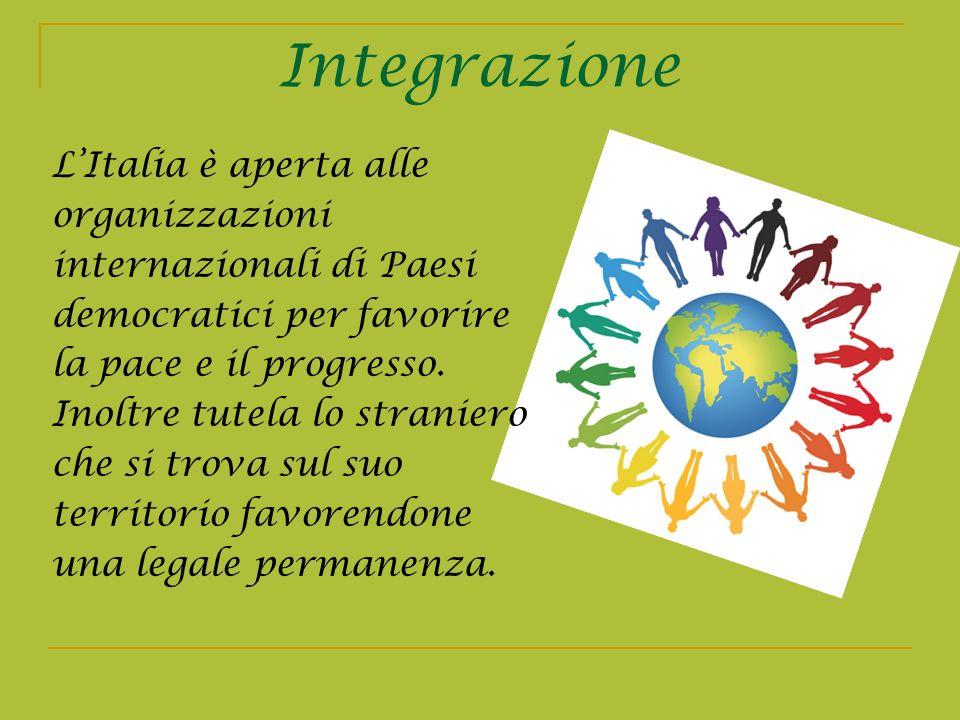 Integrazione L'Italia è aperta alle organizzazioni