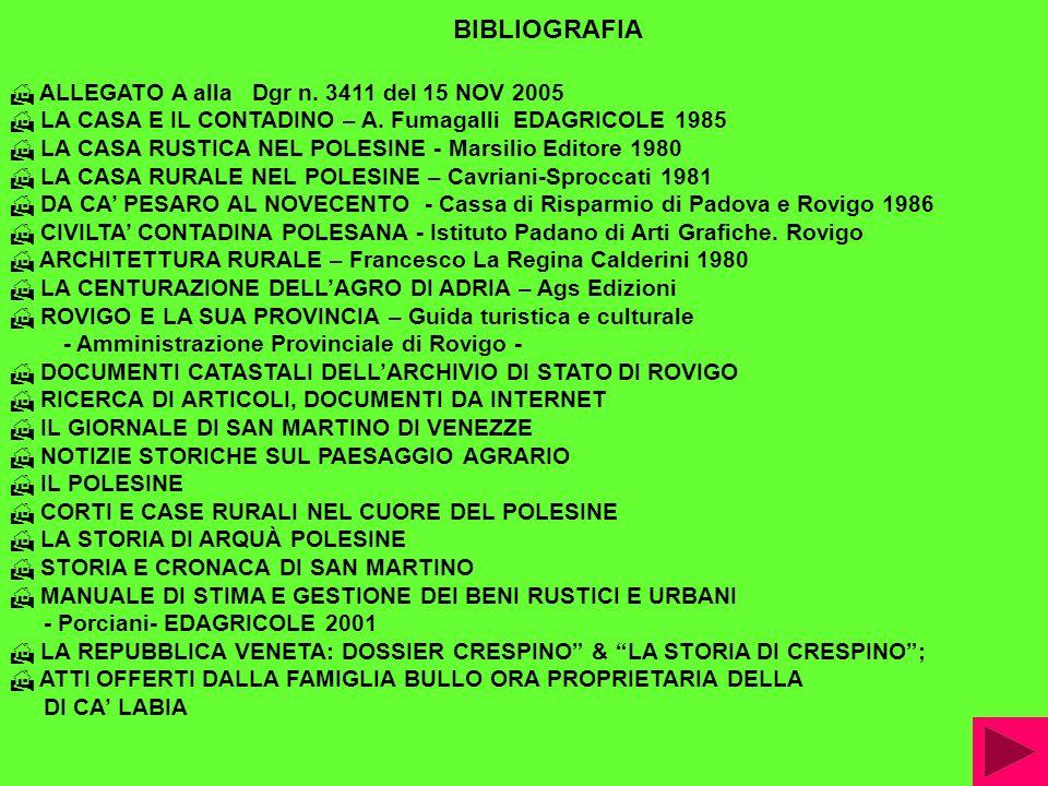 BIBLIOGRAFIA ALLEGATO A alla Dgr n. 3411 del 15 NOV 2005