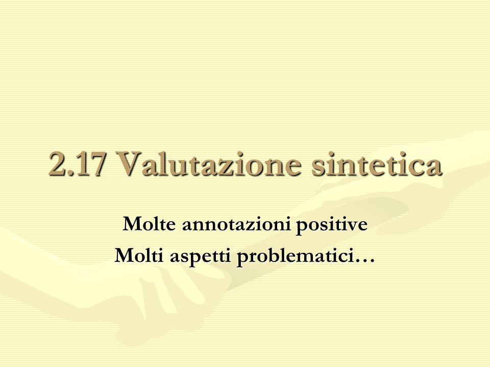 2.17 Valutazione sintetica
