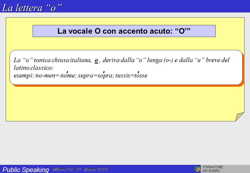 OMOGRAFI che si differenziano nell'accento fonico sulla vocale e