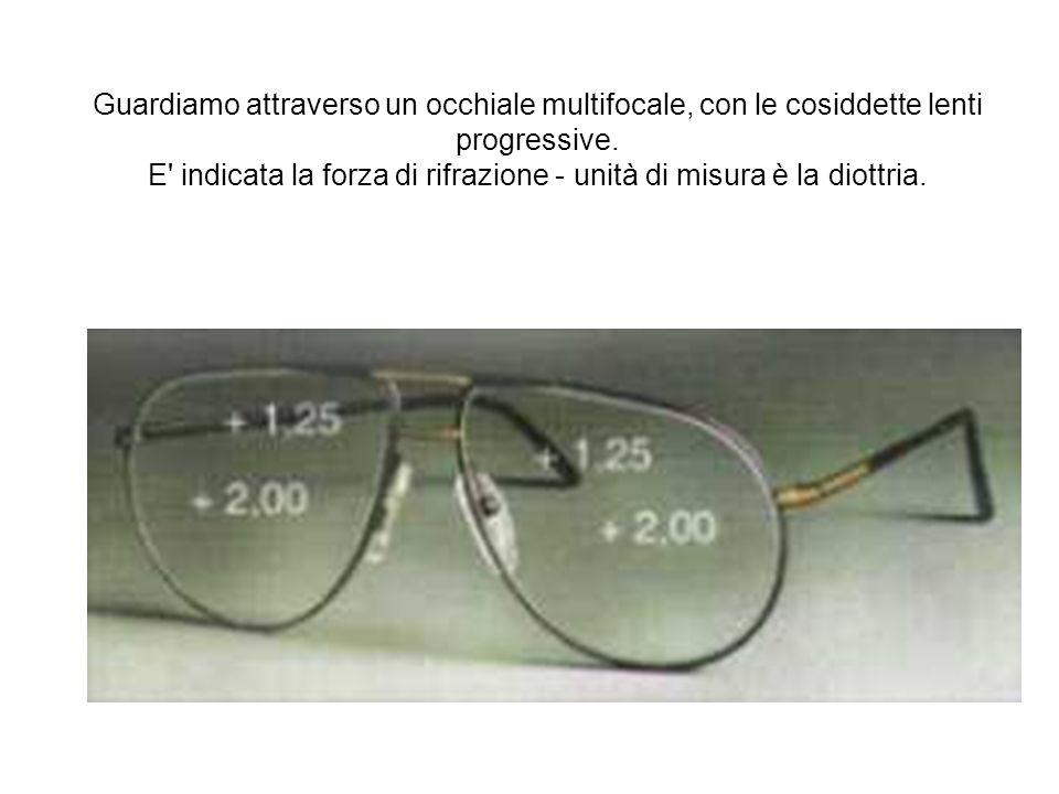 Guardiamo attraverso un occhiale multifocale, con le cosiddette lenti progressive.