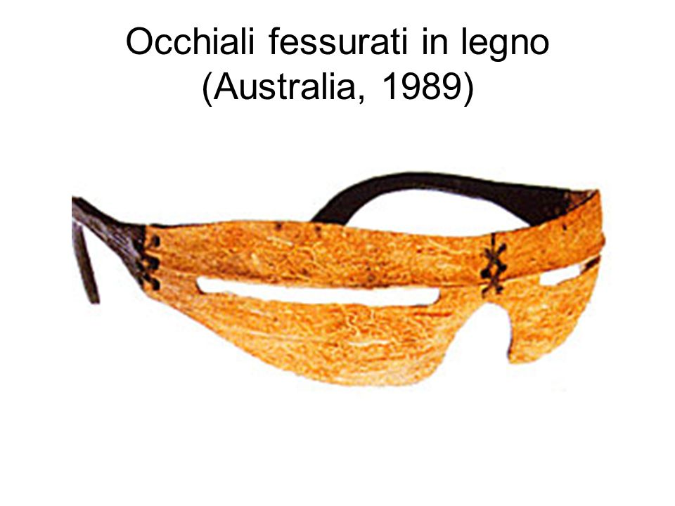 Occhiali fessurati in legno (Australia, 1989)