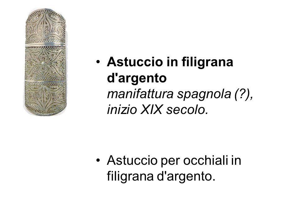 Astuccio in filigrana d argento manifattura spagnola (