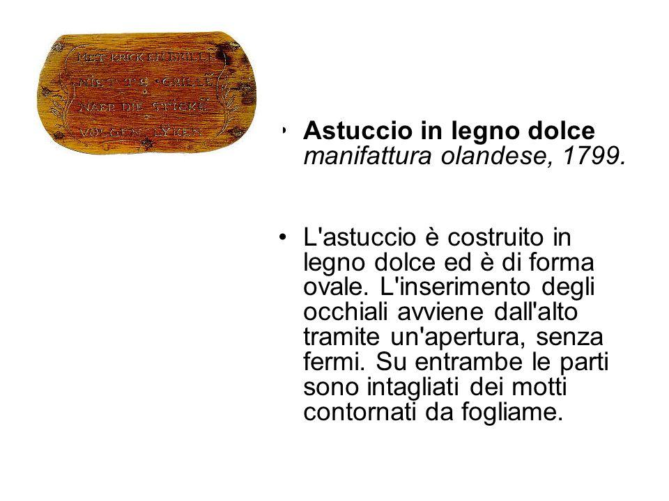 Astuccio in legno dolce manifattura olandese, 1799.