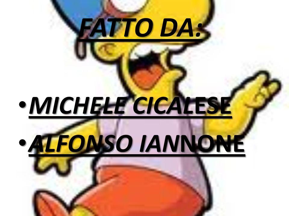 FATTO DA: MICHELE CICALESE ALFONSO IANNONE